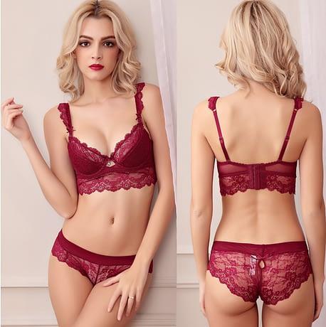 French Lace Bra Panties Set
