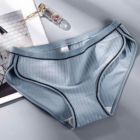 Women's Underwear, Cotton Low-Rise Panties, Briefs Female Striped Lingerie 4