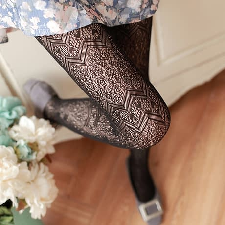 Summer Women Fishnet Tights Love Wave Sexy Female Pantyhose Stockings Hollow Out Silk Stockings For Girl Woman Collant Hosiery 3