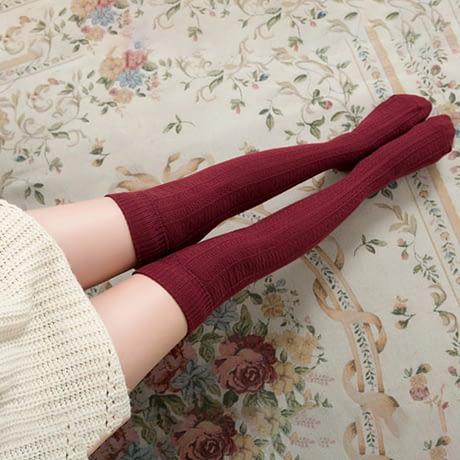 Knee Socks, Women's Cotton Thigh High Over The Knee Stockings, Ladies, Girls, Warm Long Stocking Sexy 1