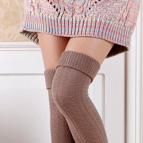 Knee Socks, Women's Cotton Thigh High Over The Knee Stockings, Ladies, Girls, Warm Long Stocking Sexy 3