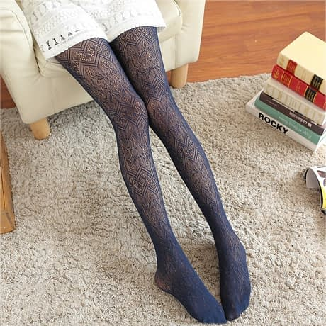 Summer Women Fishnet Tights Love Wave Sexy Female Pantyhose Stockings Hollow Out Silk Stockings For Girl Woman Collant Hosiery 4