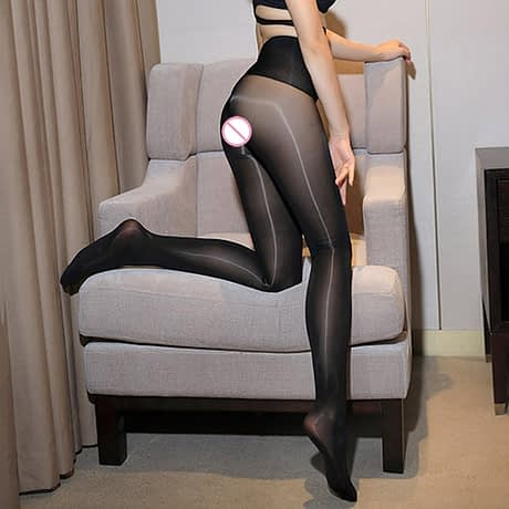 Smoothly Magic High Waist Pantyhose, Shiny Than Oil Glossy 8D Ultrathin Seamless Crotch Tights Transparent 2