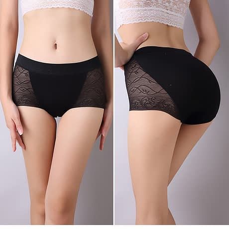 Lace Women's Underwear, Sexy Cotton Seamless Briefs, Mid-Rise Female Lingerie 3