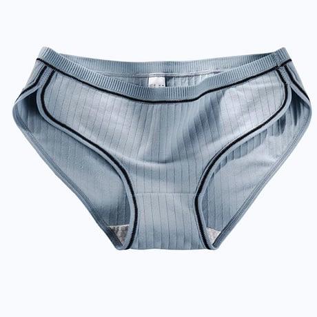 Women's Underwear, Cotton Low-Rise Panties, Briefs Female Striped Lingerie 1