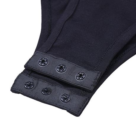 Cotton Long Sleeve High Neck Skinny Bodysuit, Women's Solid Sexy Bodysuit, New Fashion Bodycon 5