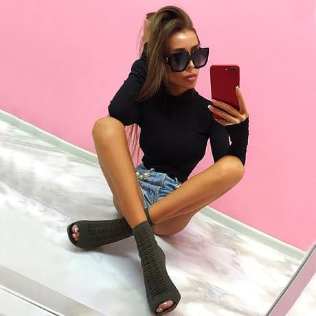Cotton Long Sleeve High Neck Skinny Bodysuit, Women's Solid Sexy Bodysuit, New Fashion Bodycon 4